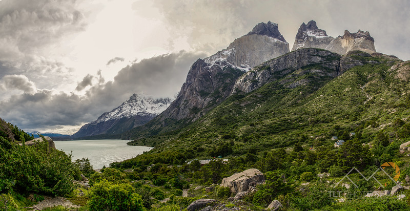 The Cuernos del Paine above cabins associated with Refugio Cuernos below, Chile. Please Follow Me! https://tlt-photography.smugmug.com/