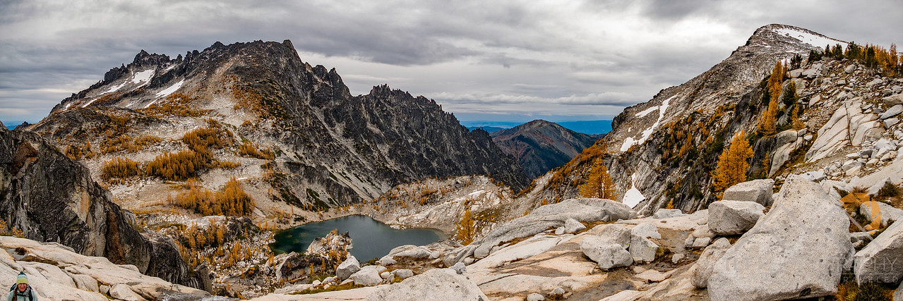 McClellan Peak on left and Little Annapurna on Right with Crystal Lake below in the Enchantments of Washington. Please Follow Me! https://tlt-photography.smugmug.com/
