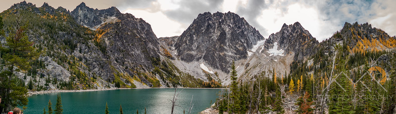 Panorama of Enchantment Peaks above Colchuck Lake in Washington. Please Follow Me! https://tlt-photography.smugmug.com/