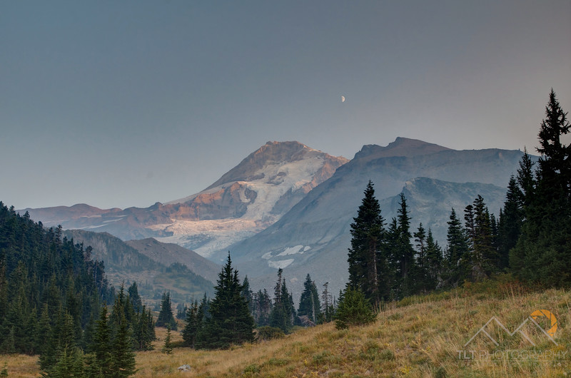 The North side of Mount Hood and the Coe Glacier near sunset as the smoke started to clear off for some views. Please Follow Me! https://tlt-photography.smugmug.com/