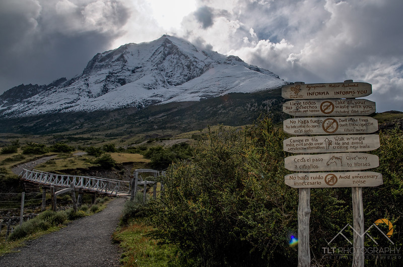Monte Almirante Nieto above us as we start our hike into Campamento Torres in Torres Del Paine National Park, Chile. Please Follow Me! https://tlt-photography.smugmug.com/