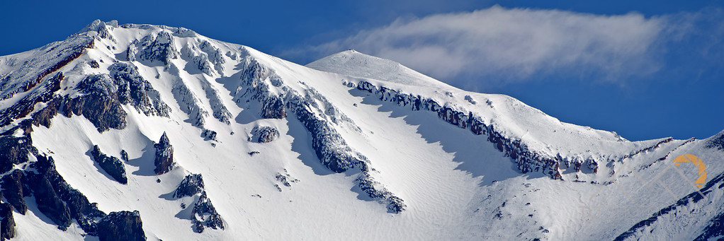Misery Hill peeking out above the red banks and Avalanche Gulch on Mt. Shasta. Please Follow Me! https://tlt-photography.smugmug.com/