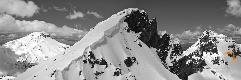 This is one of my favorite panorama's.  This was taken at the top of the SW ridge looking towards the southern summit of Broken Top in the center, the true summit on the right and South Sister in the distance on the left. Please Follow Me! https://tlt-photography.smugmug.com/