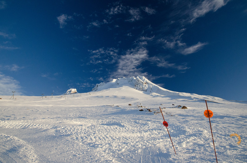 Looking up towards the summit crater as we climb along the Palmer Lift towards the summit of Mount Hood. Please Follow Me! https://tlt-photography.smugmug.com/