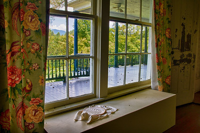 Window View William Alexander Stuart House Saltville, Virginia