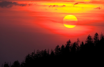 Sunset From Clingman's Dome Great Smoky Mountains National Park