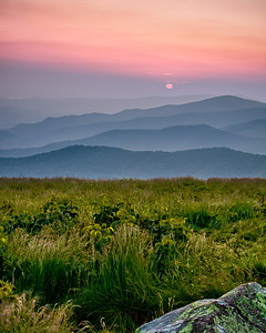 Sunrise From Round Bald On the Appalachian Trail near Roan Mountain.