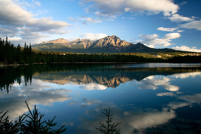 Pyramid Mountain and Lake Beauvert Jasper Alberta