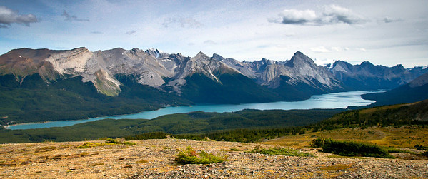 Maligne Lake from Bald Hills Jasper National Park