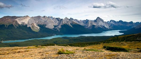 Maligne Lake from Bald Hills Jasper National Park