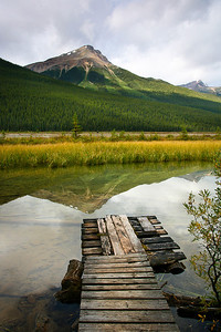 The Glory Hole Dock, Icefields Parkway Jasper National Park