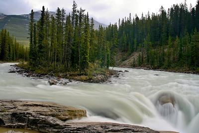 Sunwapta Falls Swirl Jasper National Park