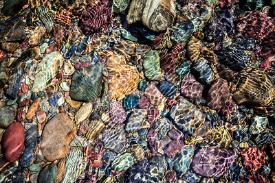 Rainbow Rocks Taken standing in the middle of McDonald Creek.