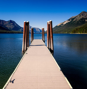 Goat Haunt Dock On the US end of Waterton Lake.