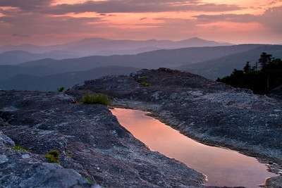 Sunset From Grandfather Mountain. Taken near the Swinging Bridge