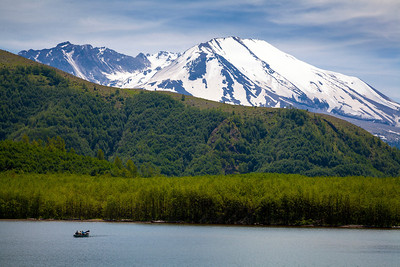 Coldwater Lake and Mount Saint Helens