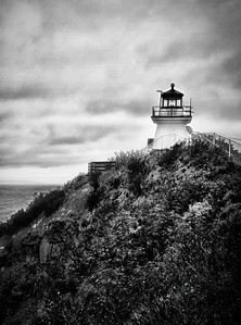 Cape Enrage Lighthouse B&W