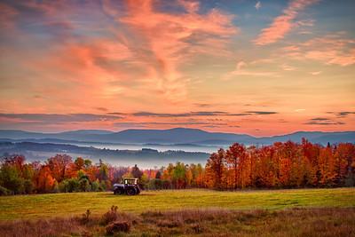 Vermont Farm Sunrise