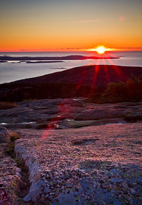 Cadillac Mountain Sunrise Acadia National Park, Maine