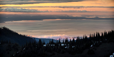 Sunset from Hurricane Ridge Olympic National Park