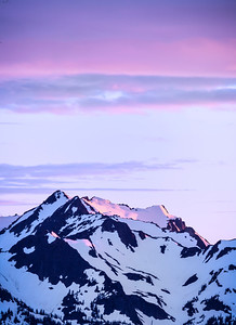 Pink Sunset - Olympic Mountain Range Olympic National Park