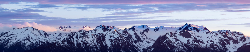 Olympic Mountain Range Paorama Olympic National Park  Can be printed very wide!