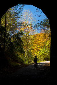 Droop Mountain Tunnel Greenbrair Trail, West Virginia.