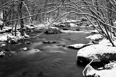 Middle Prong of The Little River in the Smoky Mountains.