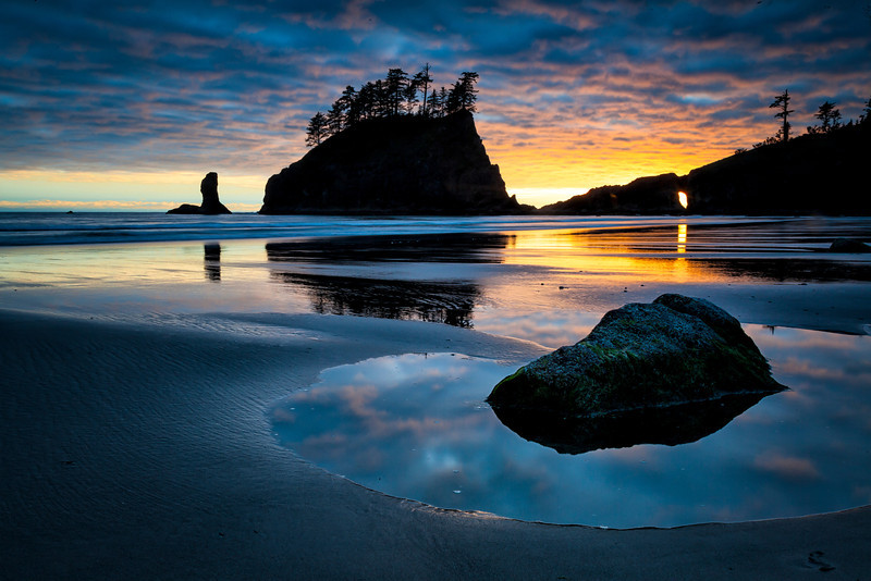 Second Beach Sunset<br /> Forks, Washington State