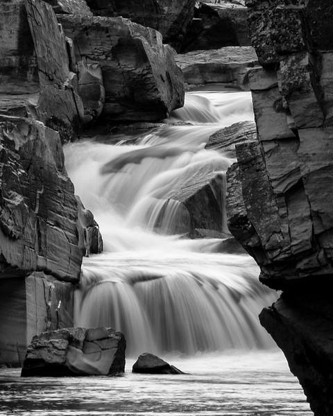 McDonald Creek Cascade<br /> Short waterfall in McDonald Creek.