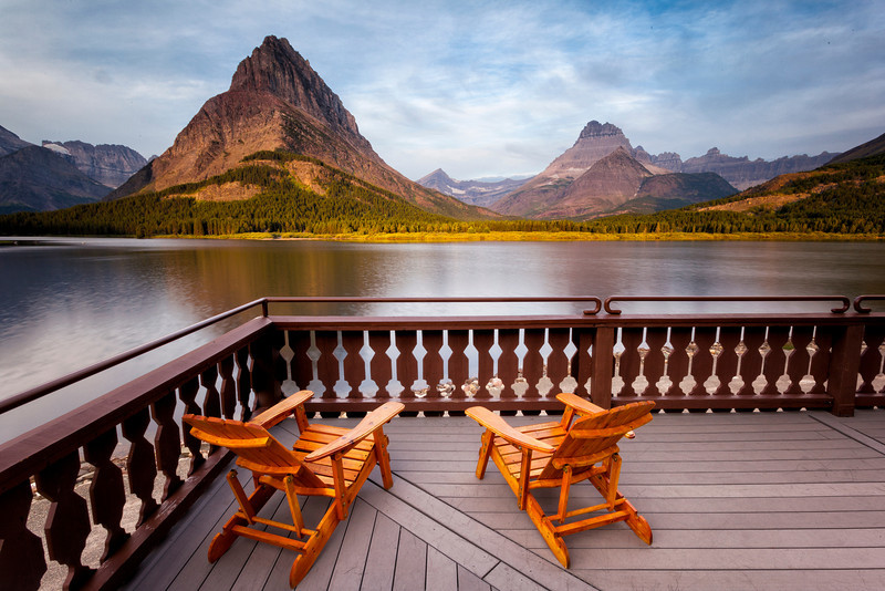 Sunrise View<br /> From The Many Glacier Hotel