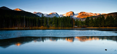 Sprague Lake Sunrise Rocky Mountain National Park