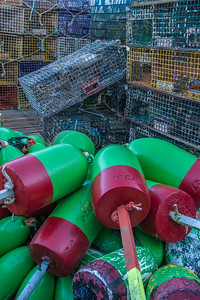 Lobster Buoys & Traps