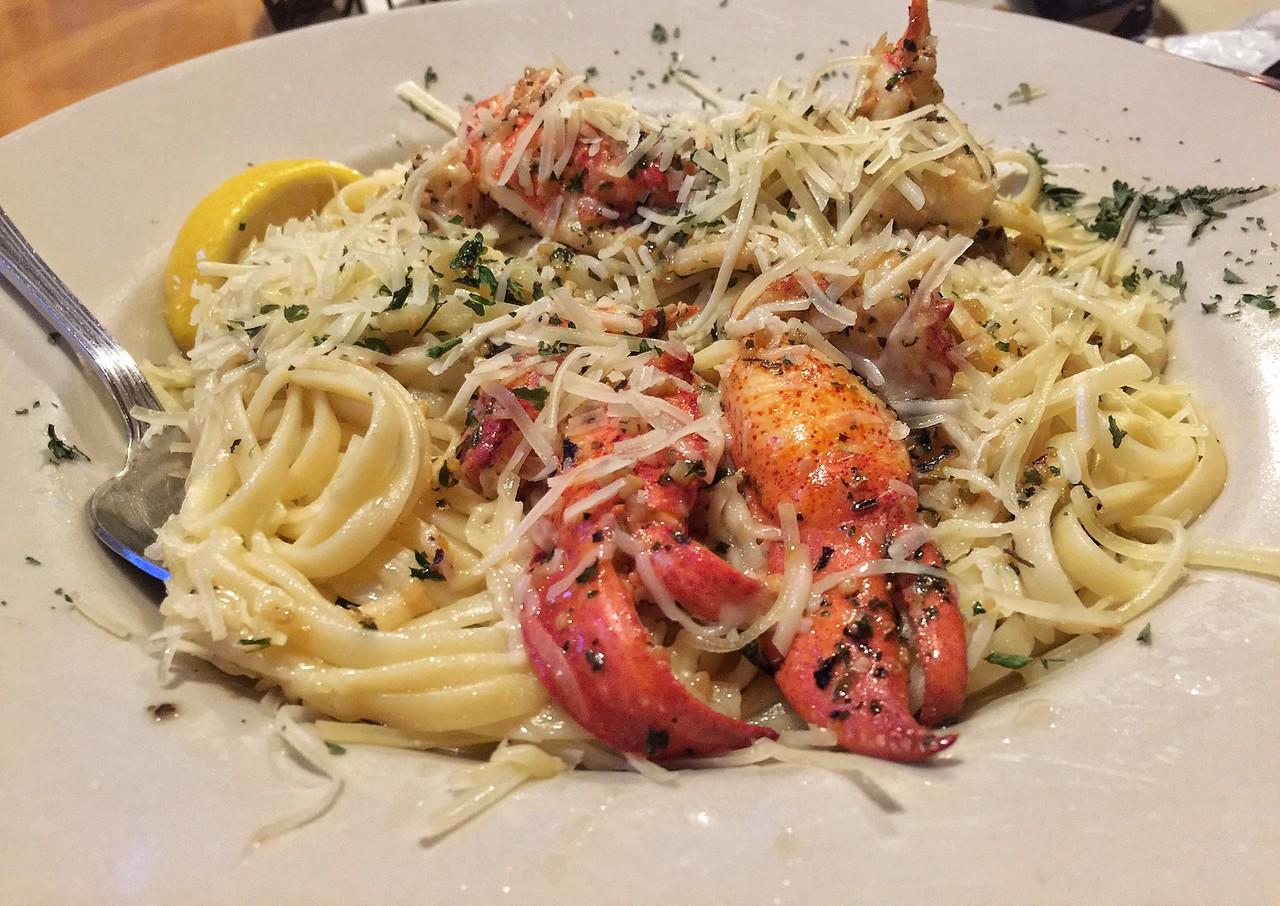 Lobster Scampi, West Street Cafe, Bar Harbor, Maine