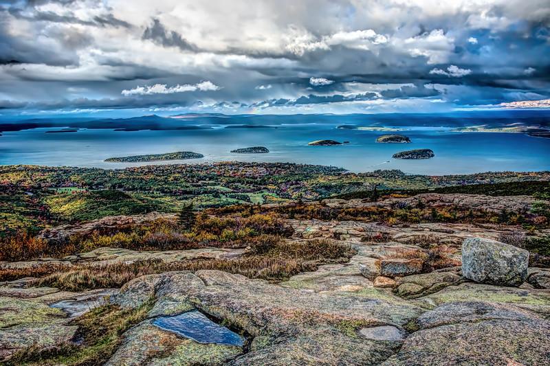 Bar Harbor, Maine, from Cadillac Mountain in Acadia National Park