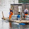 Fishermen at work on Prospect Harbor Maine