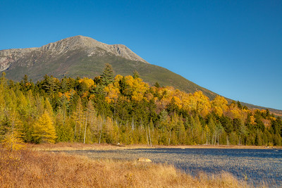 Mt. Katahdin and Tracey Pond,  Baxter State  Park, Maine