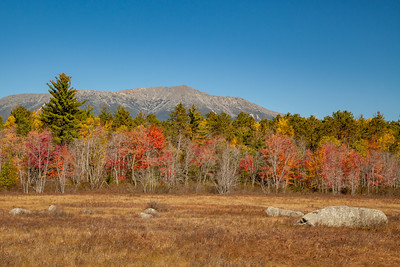 Mt.  Katahdin and Compass Pond, Golden Road, North Maine Woods