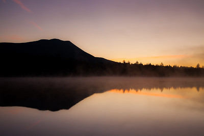 Sunrise over  Mt.  Katahdin & Kidney Pond, Baxter State Park, Maine.