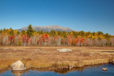 Mount Katahdin and  Compass Pond, North Maine Woods