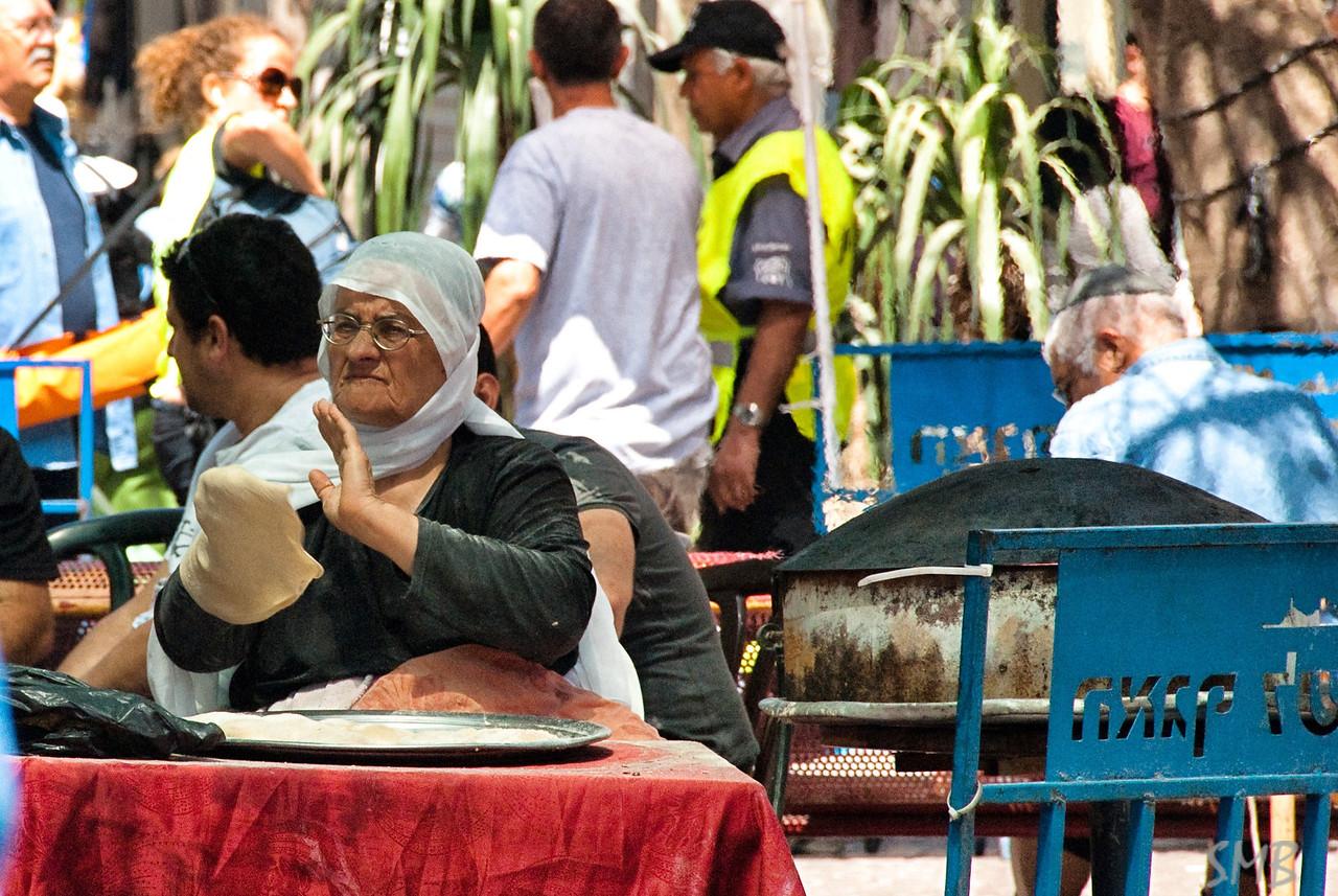 Making bread.<br /> Tel Aviv, Israel