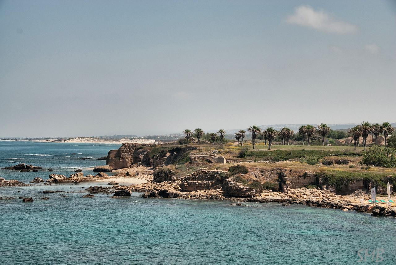 coastline at Caesarea, Israel