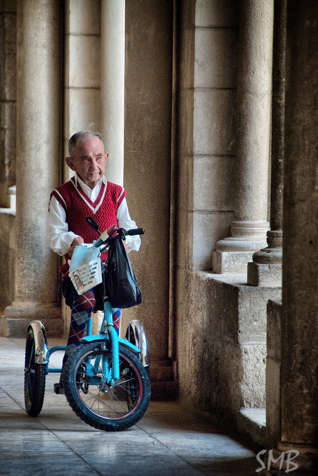 I liked his knee socks, they match his tricycle.<br /> <br /> The Church of the Nativity <br /> Bethlehem, Palestine