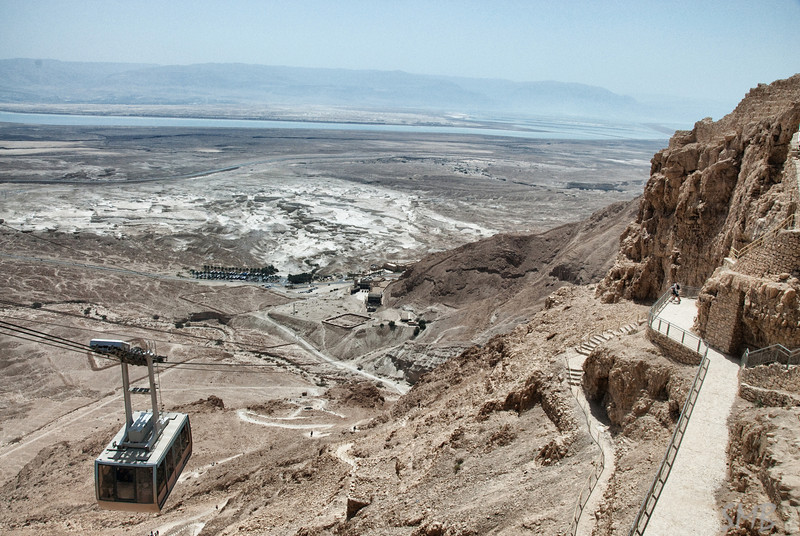 The cable car to the top<br /> Masada, Israel