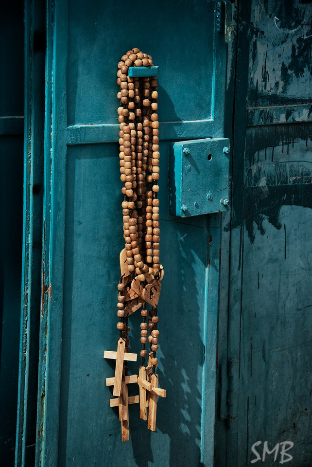 Olive wood crosses<br /> <br /> Bethlehem, Palestine