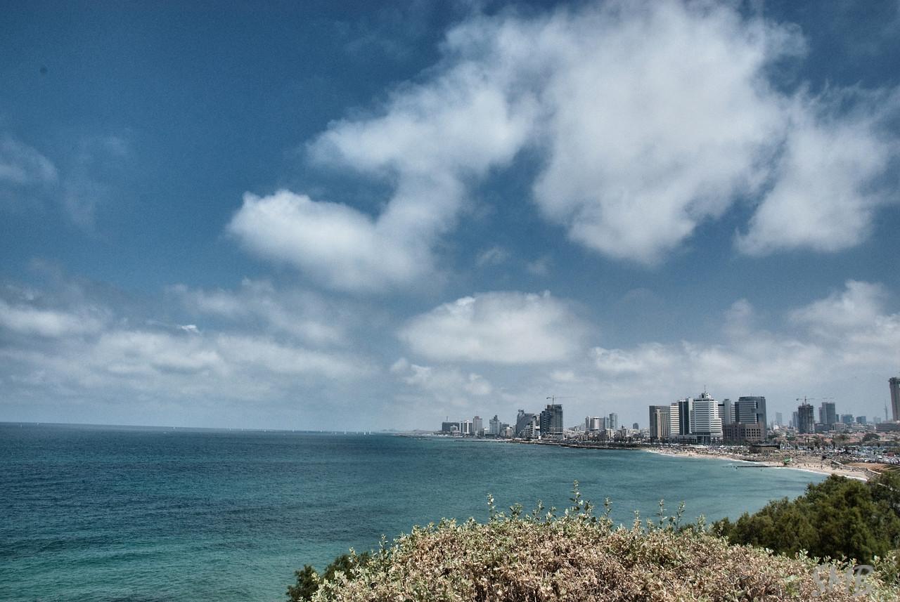 My first view of Tel Aviv, Israel