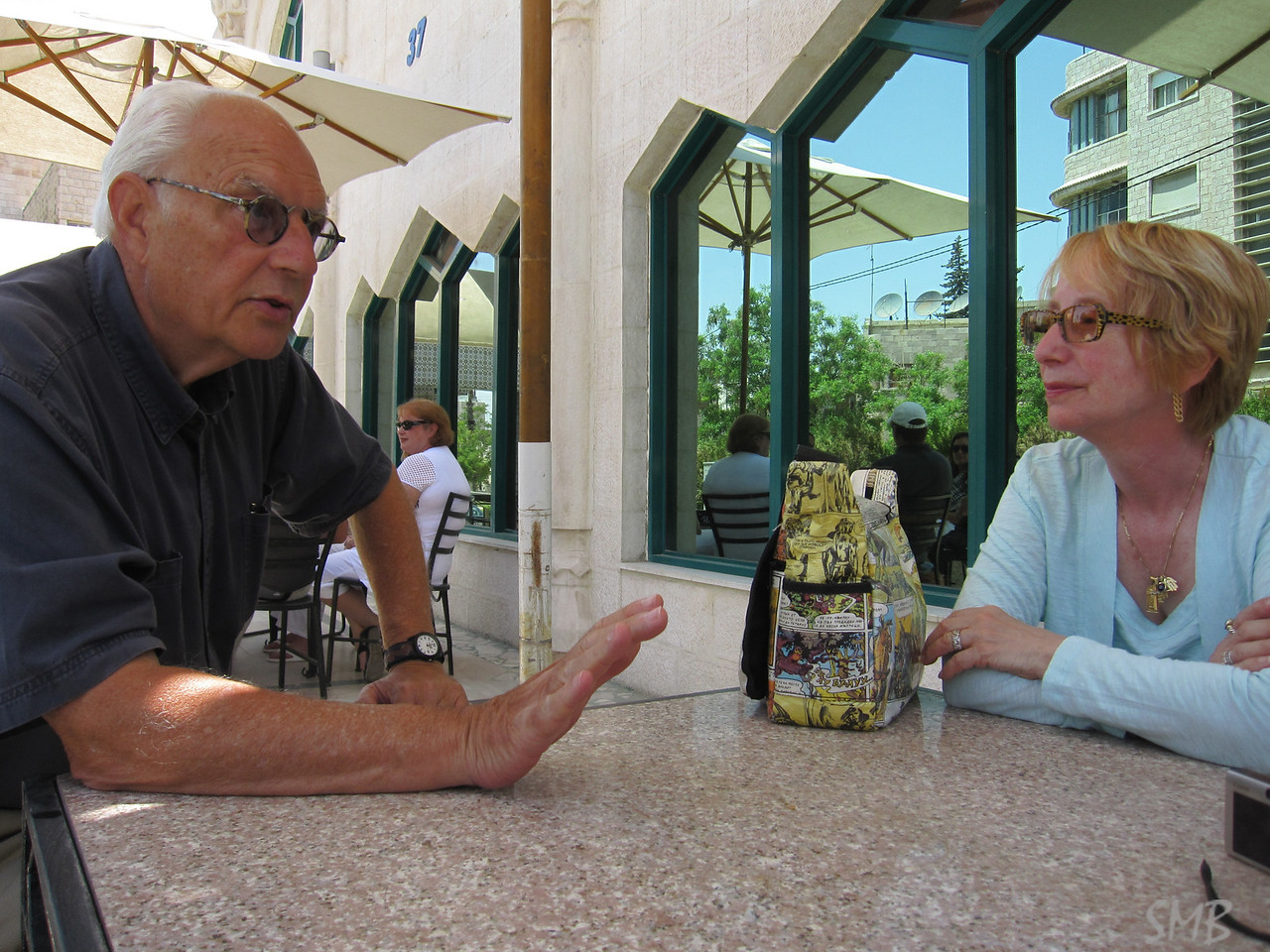 Paul and Lorraine discussing the plan<br /> <br /> Amman, Jordan