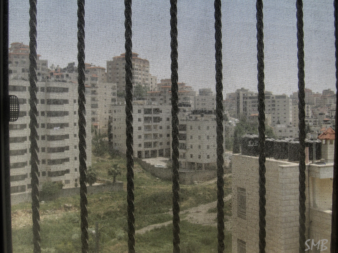 the view from Paul's apartment<br /> <br /> Ramallah, Palestine