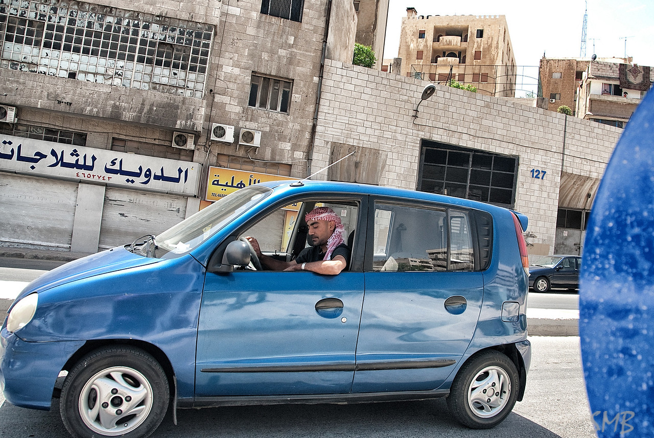 New wheels...  Matches the blue of all the street signs, building numbers, awnings and billboards in Amman
