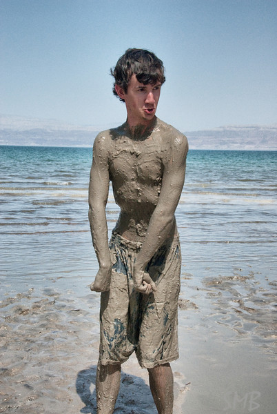 Walker after rolling around in the mud flats<br /> <br /> The Dead Sea, Israel